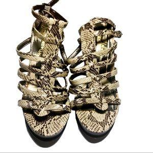 Sam Edelman Mariella Snakeskin Platform Sandals